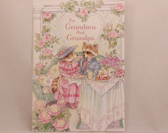 "NEW! Vintage ""For Grandpa and Grandma"" on Valentine's Day by Dayspring. Single Greeting Card with Envelope."