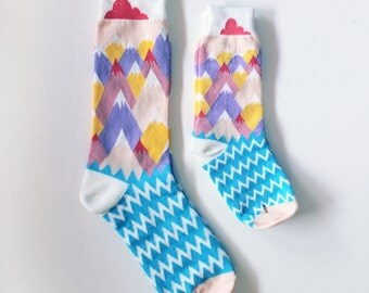 Like me socks - for kids and parents / / MOUNTAIN, CLOUD and GRASS