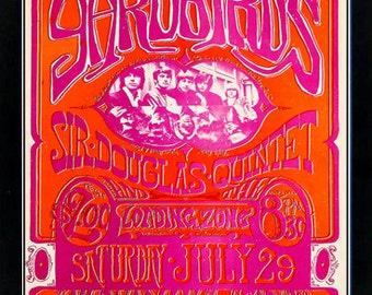 The Yardbirds San Ramon High School Rock Concert Poster Framed Highest Quality