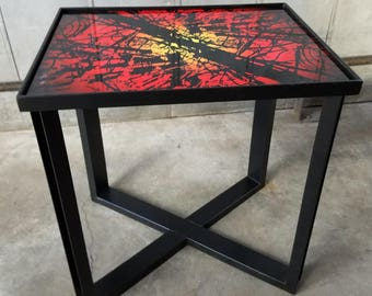 Industrial End Table. Urban End Table. Aluminum Table. Side Table. Urban Side Table.  Industrial Furniture. Furniture. Lobby Furniture.