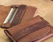 The Babe Leather Groomsmen Flap Wallet, Credit Card Wallet, Groomsmen Gifts, Wallets for Him Gift Ideas for Him Wedding