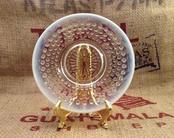 vintage Fenton Opalescent Hobnail Saucer or Dessert Plate