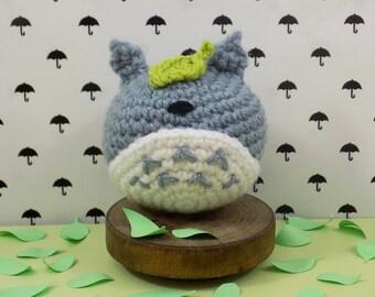 Totoro keychain. Handmade crochet amigurumi. Kawaii. Studio Ghibli