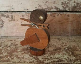Wacky  Quacky Ducky/ MCM/ Wood? Clip? Business Card Holder