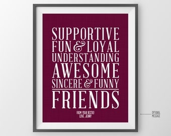 Gift for Best Friend Gift for Best Friends Wedding Gift BFF Gift Friends Wedding Gift for Gift for Maid of Honor Gift for Bridesmaid