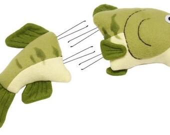 "2 Pc 7.25""H Bass Fish Wreath Decor Kit/Wreath Supplies/Beach Decor/Nautical Decor/Fish Wreath/MD0231"