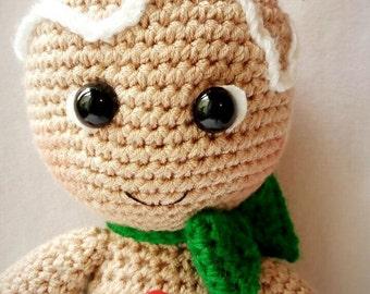 Amigurumi gingerbread man patrones (espanol)
