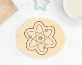 Atom Cookie Cutter - Science Cookie Cutter Science Chemistry Molecular Electron Fondant Cutter - 3D Printed