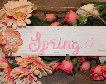 Easter Spring Wood Sign Wooden Signs Decor Rustic Wall