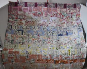 Patchwork Quilt, Handmade Patchwork Quilt, Traditional Patchwork Quilt, Patchwork Chair Throw, Sofa Throw, Lap Quilt, Traditional Patchwork
