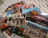 Set of 50 Vintage Modern Postcard Postcards all California CA so many uses scrapbook writing stamps photography art collage paper