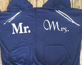 Mr. and Mrs.  hoodie bundle. Mrs. Light weight hoodie. Mr.  Light weight Hoodie. made by thinkelite1