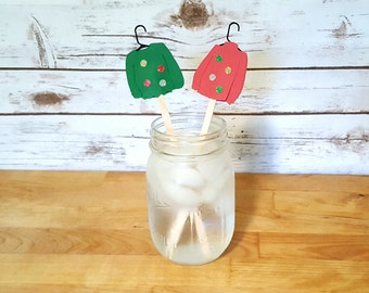 Ugly Christmas Sweater Drink Stirrers