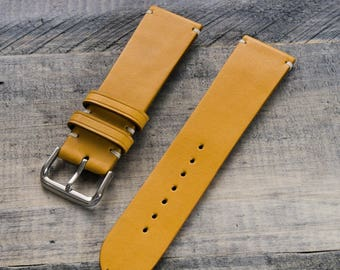 Handcrafted leather watch strap 22mm Vegetable tanned leather watch strap 18mm 20mm watch band 22 mm 24 mm watch strap