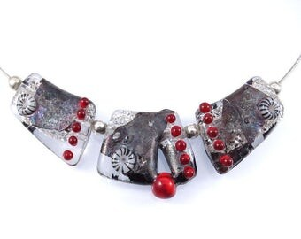 Beadset: Glitter Metal Red (3x)