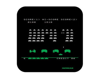 "NOVELTY Fridge Magnet ""Space Invaders"" - Shiny Gloss Finish - Retro gaming screenshot design"