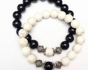 Yin Yang Couple bracelet sets, You and Me bracelets, Friendship beaded bracelets, Healing bracelet, His and her bracelet, Gifts for couples