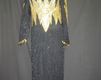 Black and gold gown# 326