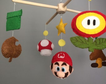 Mario Bros nursery mobile