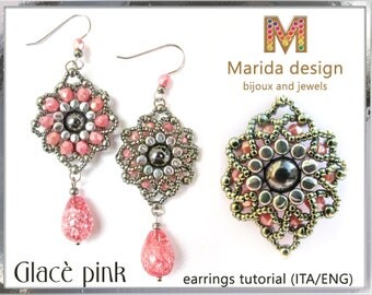 "Tutorial ""Glacè Pink"" earrings"