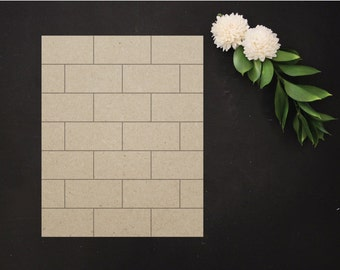 Size B | SUBWAY TILE INSERT | Pocket Frame Compatible | Frame Not Included