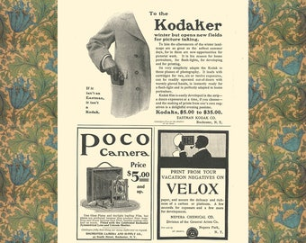 Kodak Poster, Vintage Camera Poster, Office Wall Decor, Photography Gift