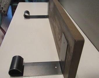 """Pair of 5 3/4"""" Metal Shelf Brackets-Light Load Industrial Metal Shelf Bracket-2 Handmade Curled Metal Shelf Brackets-Fixer Upper Wall Decor"""