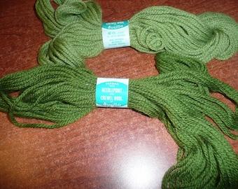 Bucilla Persian Needlepoint And Crewel Wool 40 Yarn Skeins Greens