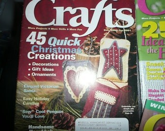 2001 Crafts Magazines December/January,February,April, May