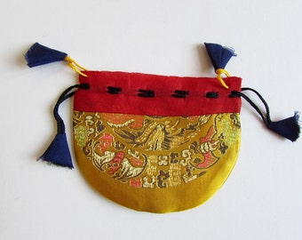 Gift Bags, Jewellery Pouch, Drawstring Pouch, Coin Purse Handmade, Mala Pouches TI - 1 Giftbag