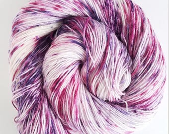 She Likes Purple, Hand Painted Indie Dyed Yarn