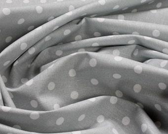 Fabric pure cotton small dots grey white Petticoat