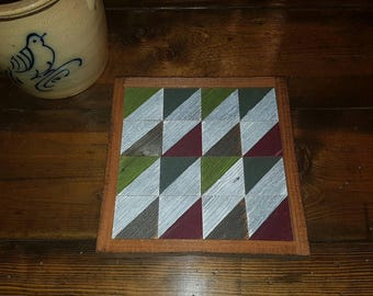 rustic wooden quilting square barn square