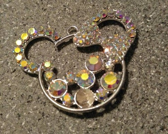 Minnie mouse head, Minnie Pendant, Bling, Chunky Necklace Pendant
