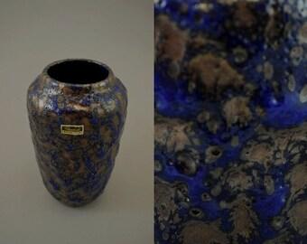 Vintage vase / Scheurich / Fat Lava / 238 18   West-german pottery   60s