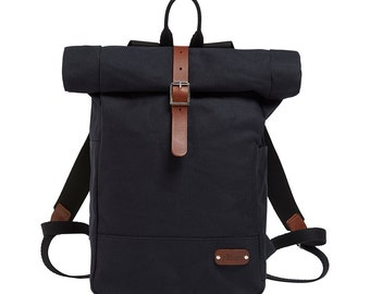 Backpack / Rucksack / Roll Top Backpack / Canvas Backpack / Canvas Rucksack / Bike bag / Bicycle bag / Rolltop Backpack