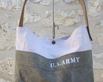 """SMALL bag """"us army"""" ROSE"""