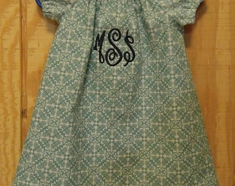 Monogrammed Peasant Dress for Baby/Toddler/Girl, Easter Dress, Spring Dress, Summer Dress