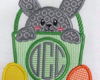 Boys Easter bunny basket shirt
