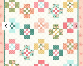 "Smarty Pants Quilt Pattern by Vanessa Goertzen of Lella Boutique for Moda- LB 153G Finished Size 70"" x 80"""