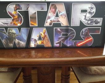 Large Star Wars Custom Canvas