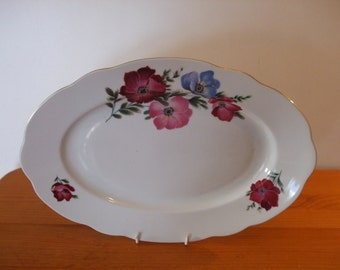 MZ Czechoslovakia oval meat/serving plate
