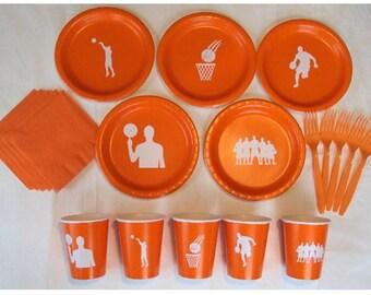 Basketball Tableware Set for 5 People - Boys or Girls