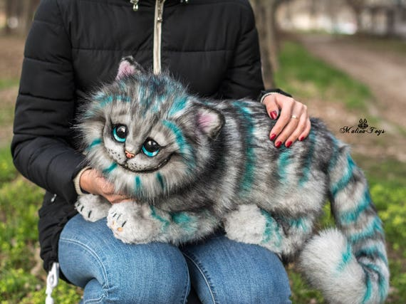 Blue Cheshire Cat Stuffed Animal