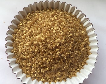 Edible Pearlized Gold Crystal Sugar 4oz