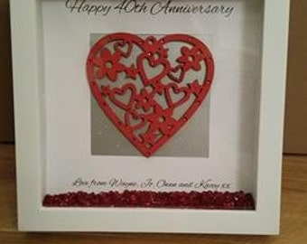 Personalised anniversary frame gift