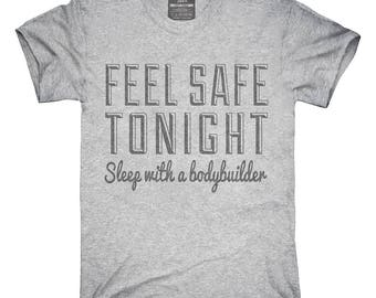 Sleep With A Bodybuilder Humor T-Shirt, Hoodie, Tank Top, Gifts