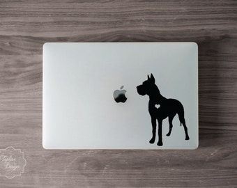 Vinyl Dog Decal | Custom Made Decal | Dog Heart Decal | Any Breed Dog Decal | Car, Laptop, iphone, ipad, Yeti Decal