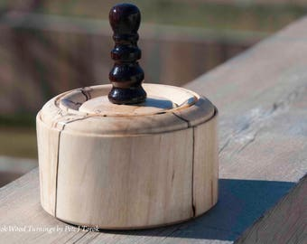 Small spalted maple trinket box