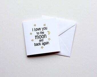 I Love You - Mini Card